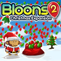 Play Bloons 2 Christmas Expansion Game