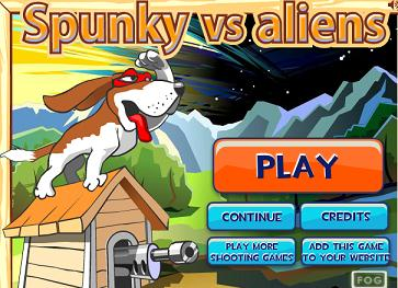 Play Spunky vs Aliens Game