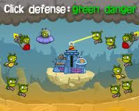 Play Click Defense: green danger Game