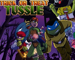 Play Trick or Treat Tussle Game