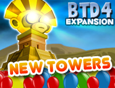 Play Bloons tower defense 4 expansion Game