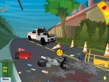 Play Road accident cleaning Game