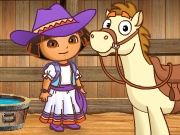 Play Dora Barn Activities Game