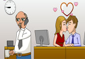 Play Secret office kissing Game