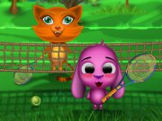 Play Toto and sisi play tennis Game