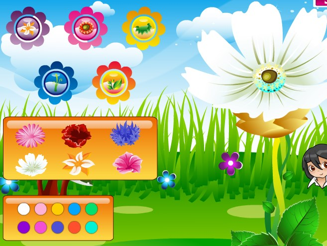 Play Dress my flowers Game
