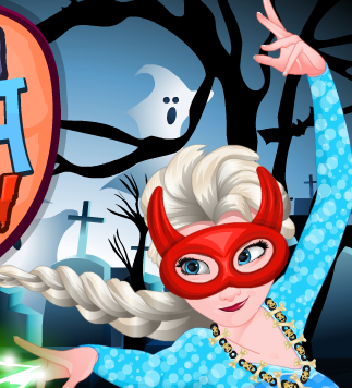 Play Frozen Elsa Halloween Dress Up Game