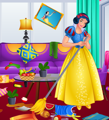Play Snow Whites Messy Room Game