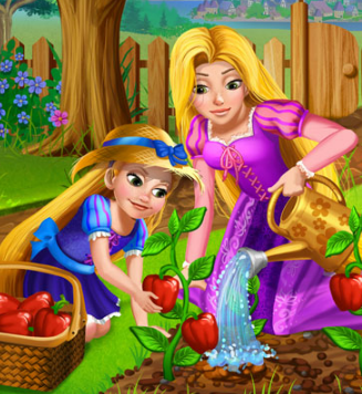 Play Rapunzel Mommy Gardening Game