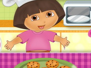 Play Dora Cooking Crackers Game