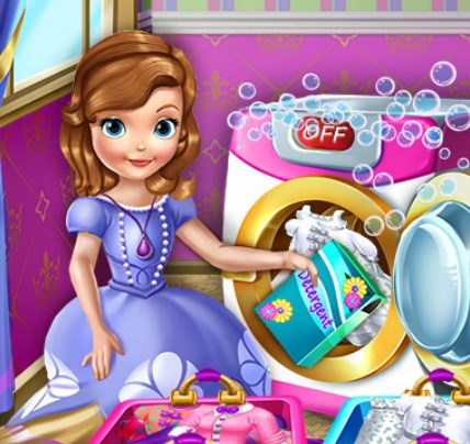Play Princess Sofia Laundry Day Game