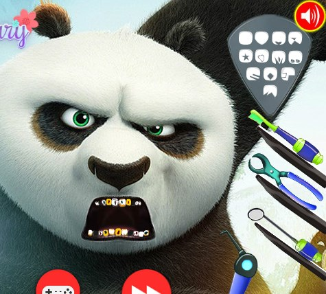 Play Kung Fu Panda Dentist Checkup Game
