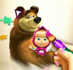 Play Masha And The Bear Coloring Book Game