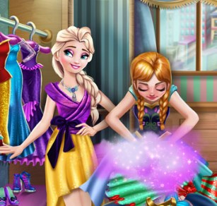 Play  Frozen Wardrobe Cleaning Game