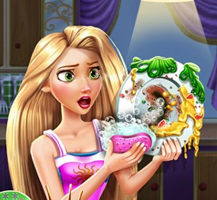 Play Rapunzel Dish Washing Realife Game