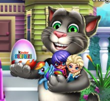 Play Talking Tom Kinder Surprise Game