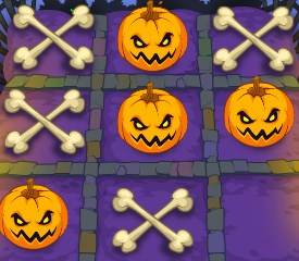 Play Noughts and Crosses Halloween Game